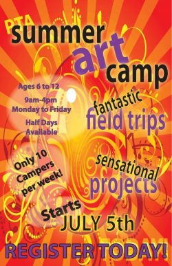 PTA Summer Art Camp Poster