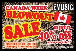 PTA Canada Day Sale