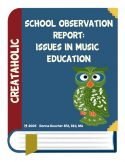 thumbnail of Issues in Music Education Observation Report