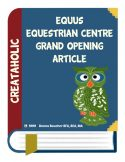 thumbnail of equus grand opening article
