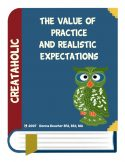 thumbnail of The value of practice and realistic expectations